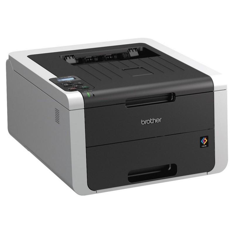 Impresora Láser Color Brother HL-3170CDW A4 Wifi - Impresora de color negro - Wi-Fi Direct - Proceso Rápido de Impresión - 22 Páginas por Minuto - Color - Monocromo - Reducción del Coste por Página - Protección de Información PIN -Pantalla LCD de 1 línea