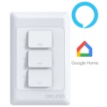 Interruptor x3 inteligente DIGOO DG-S811 Wifi Alexa Asistente Google