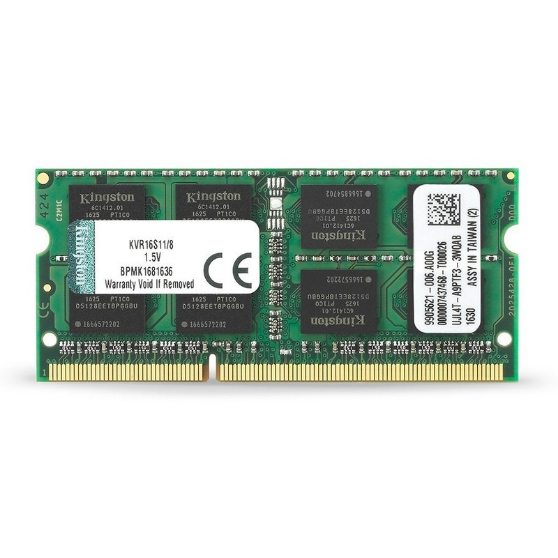Memoria RAM DDR3 8GB para laptop Kingston ValueRAM 1600MHz