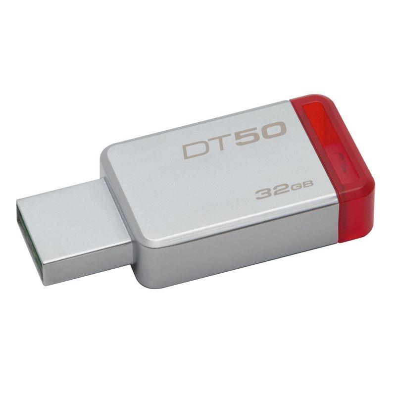 Kingston DataTraveler 50 32GB USB 3.1 Rojo Plata