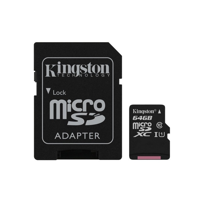Kingston Technology 64GB Canvas Select UHS-I Class 10 - MicroSD Card + SD Adapter - 80 MB / s in reading and 10 MB / s in writing, UHS-I Speed Class