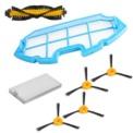 Kit de repuestos conga excellence y conga excellence 990 - Kit compuesto por: 4 x cepillos laterales 1 x cepillo central 1 x filtro HEPA 1 x filtro esponja - Ítem