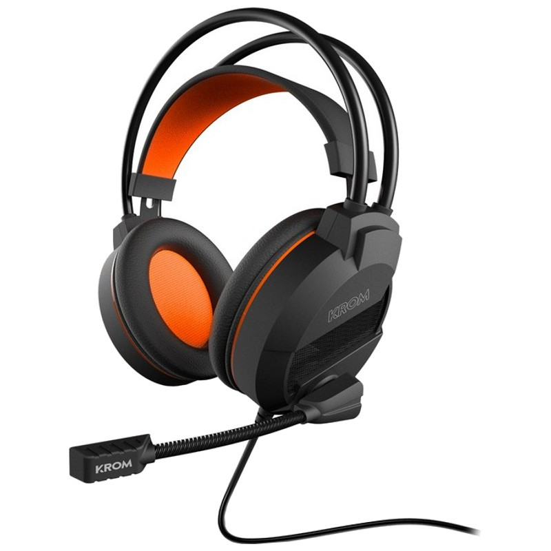 Krom Khami Gaming Black Orange - It does not matter if you enjoy playing shooters or MOBA, because Khami headphones will allow you an absolute immersion and an excellent performance to get ahead of any play.