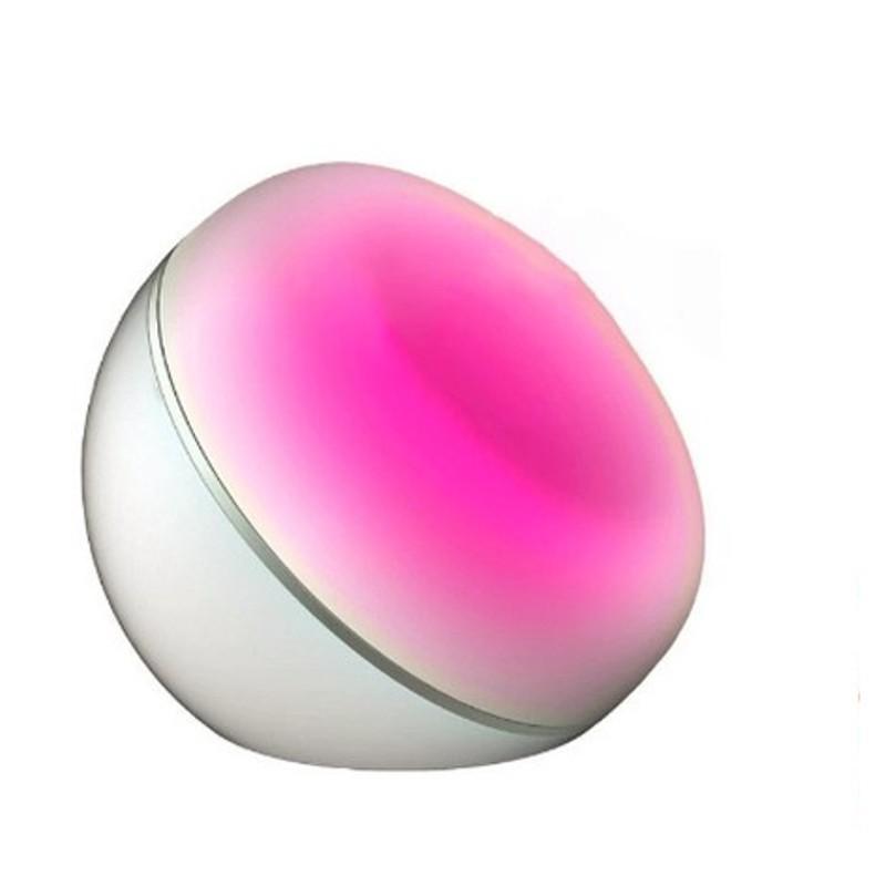 Lámpara Inteligente de Mesa control por Voz DB-106 - Color Blanco - 7 Colores RGB - Iluminación LED - Alimentación5V-1A -WiFi2.4GHzb/g/n - Control Remoto - Temporizador - Compatible con Android y iOS