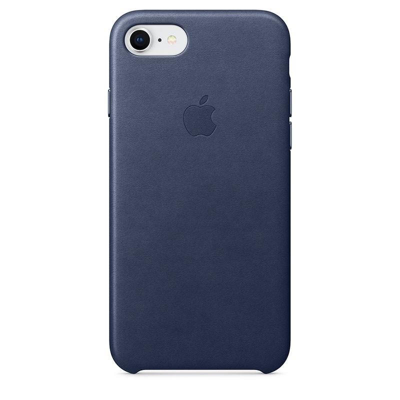Capa de pele para iPhone 8 e iPhone 7 em cor Azul Noite