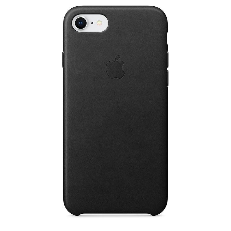Capa de pele para iPhone 8 e iPhone 7 em cor Preto