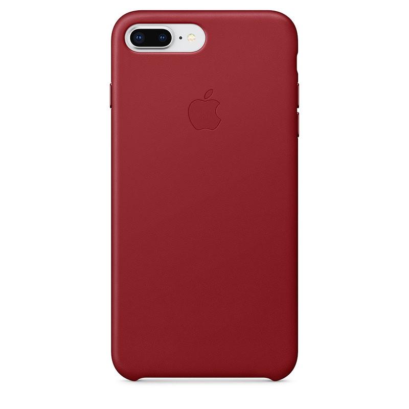 Capa de pele para iPhone 8 Plus e iPhone 7 Plus em cor Vermelho