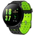 LEMFO LT03 Pulseira de Silicone Preta/Verde - Smartwatch