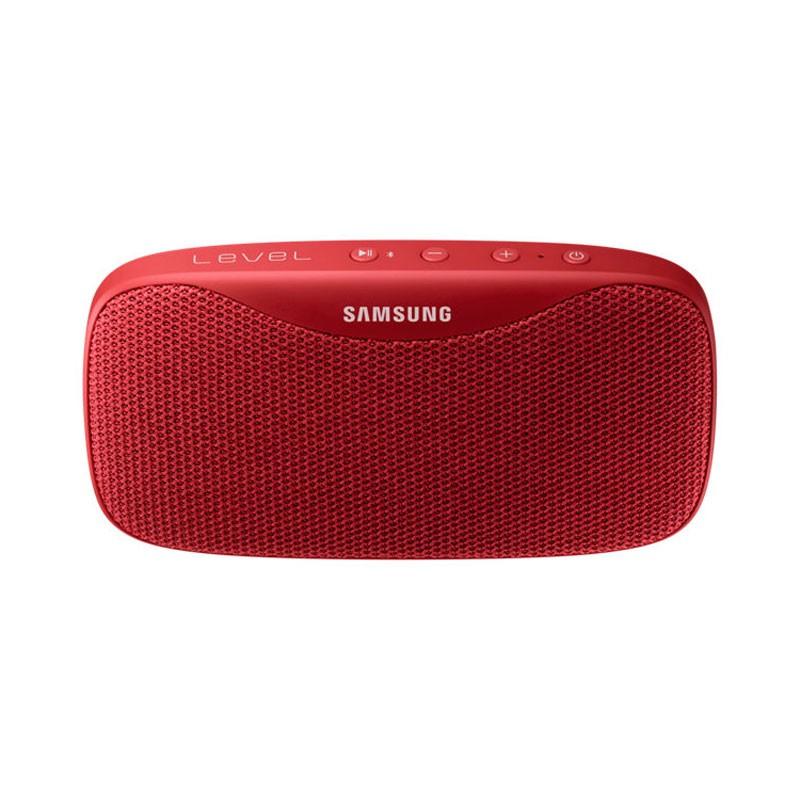 Samsung Level Box Bluetooth Rojo - Altavoz Bluetooth Portátil - Bluetooth 4.1 - Resistencia a Salpicaduras IPX7 - Micrófono - Función Manos Libres - Potencia 8W - Autonomía de hasta 30 Horas, Diseño Portátil, Interfaz de Botones de Reproducción, Carga