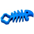 Aluminum Key CNC Style Fish - Sports Camera Accessories - Blue