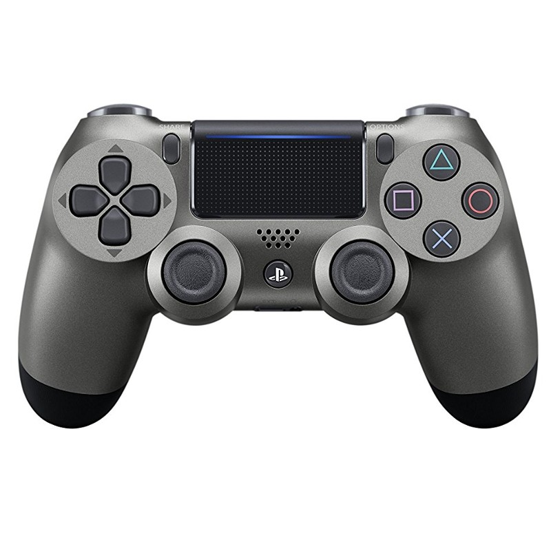 Mando Sony PS4 Dualshock Negro Acero V2 - Mando Oficial Dualshock, panel táctil, conexión auriculares 3.5 mm, autonomía de 5 a 7 horas