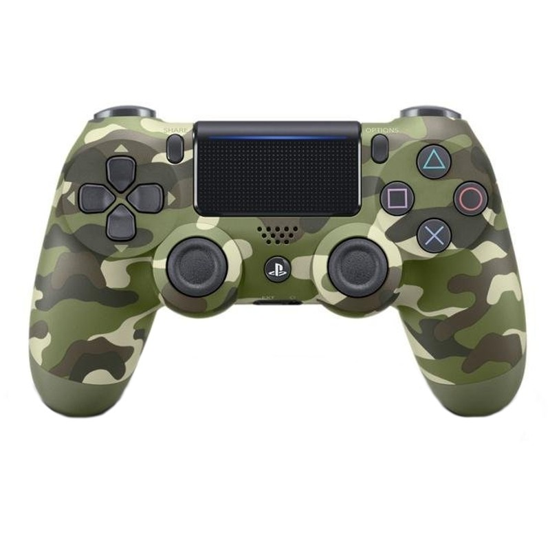 Mando Sony PS4 Dualshock Verde Camuflaje V2 - Mando Oficial de Sony PS4, Panel Táctil, Salida Audio 3.5 mm, Autonomía de 5 a 7 horas, barra de iluminación