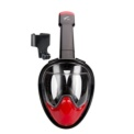 Snorkel Mask L / M with Sports Camera Stand - Black and red color - Dimensions L / M - Item