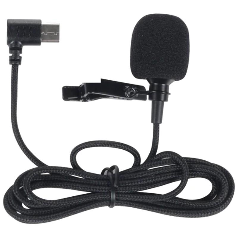 Micrófono SJCAM SJ8 Air/SJ8 Plus/SJ8 Pro - Color negro - Compatible exclusivamente con los modelosSJ8 Air/SJ8 Plus/SJ8 Pro - Conexión USB-C - Cancelación de ruido - Cable 140 cm