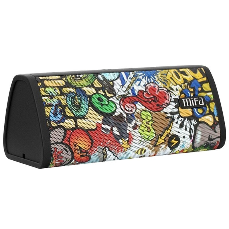 MiFA A10 Graffiti - Altavoz Bluetooth - Color negro