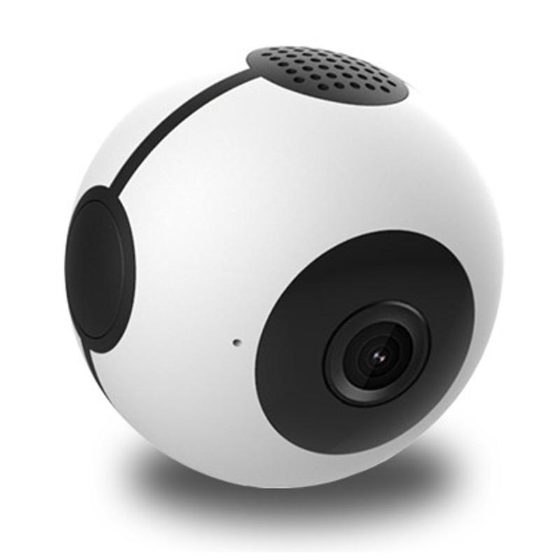 Mini Cámara C8 HD WiFi/Detección de Movimiento/Visión Nocturna - color blanco - Diseño Esférico - WiFI - Resolución 1280 x 720p - Detección de movimiento - Visión Nocturna - Grabación en Bucle - Control APP - Sensor CMOS - MP4 - H.264 - Alertas - Soporte