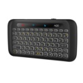 Mini Bluetooth Keyboard H20 Touch - 2.4GHz Wireless Receiver - Vertical and Horizontal Touchpad - QWERTY Keyboard - Navigation on Smar TV and Android TV - Maximum Authomatic 9 Hours - Adjustable Lighting - Ergonomic and Transportable Design