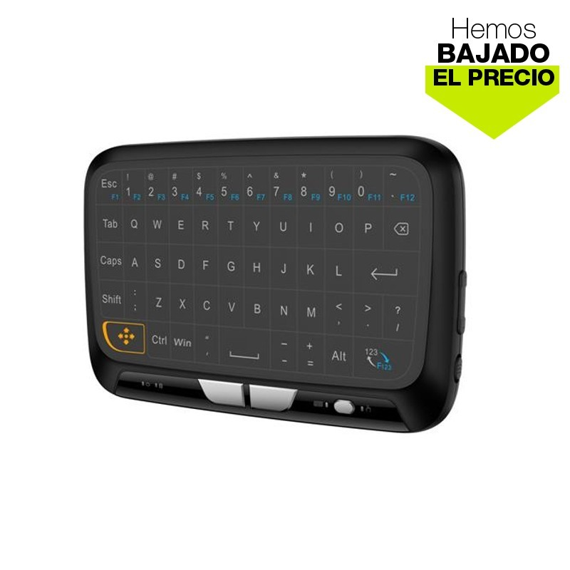 Mini Teclado Bluetooth HT18 - Zona frontal (panel de teclas táctiles)