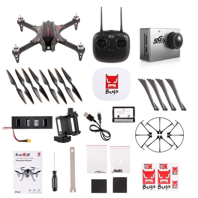 MJX Bugs 3H FPV 5.8GHz - Drone - color gris - GPS- Cámara C6000 1080P - WiFi FPV- Motor sin Escobillas - MT1806 de 1800 kv - Soporte para Cámaras Deportivas - GoPro - Ãtem7