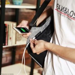 Mochila USB Mark Ryden Laptop Style Negro/Gris MR5815ZS - Ítem3