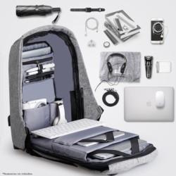 Mochila USB Mark Ryden Laptop Style Negro/Gris MR5815ZS - Ítem5