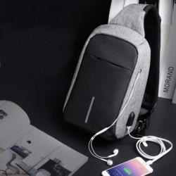 Mochila USB Mark Ryden Crossbody Negro/Gris MR5898 - Ítem1