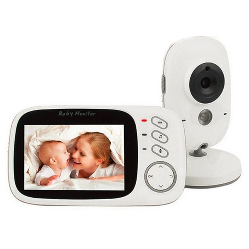 Monitor de vídeo de bebé Kingfit VB603 - Visão nocturna, música relaxante para bebes, temperatura ambiente, comunicação bidireccional