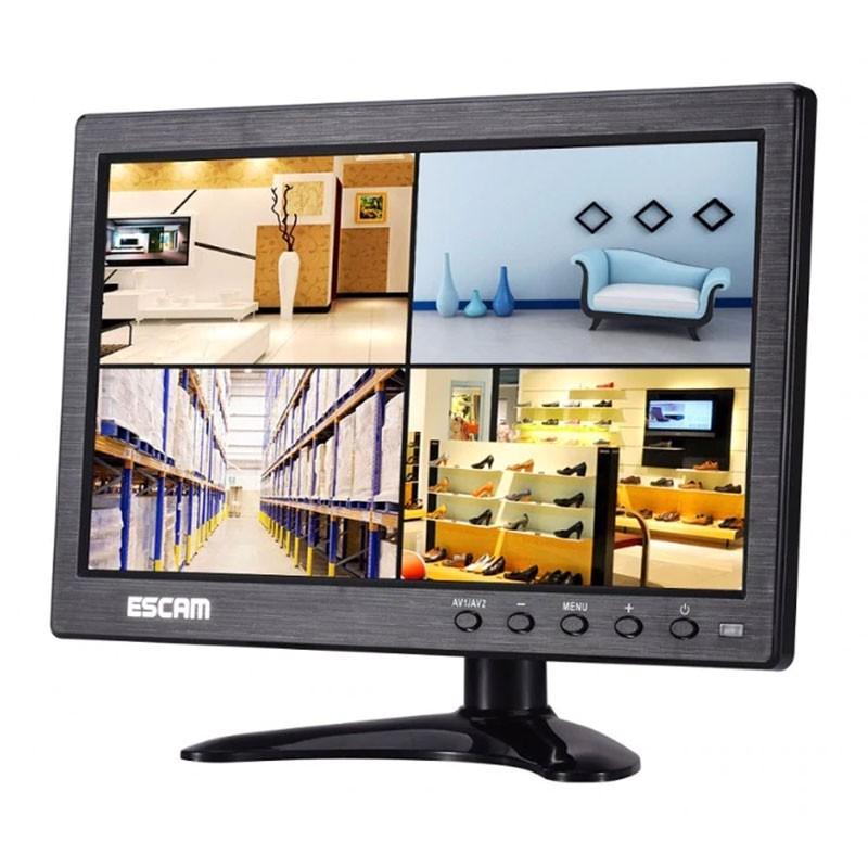 Monitor câmaras de segurança Escam T10 VGA AV HDMI BNC