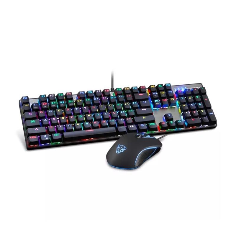 Teclado Mecánico Color MotoSpeed CK888 + Ratón Gaming
