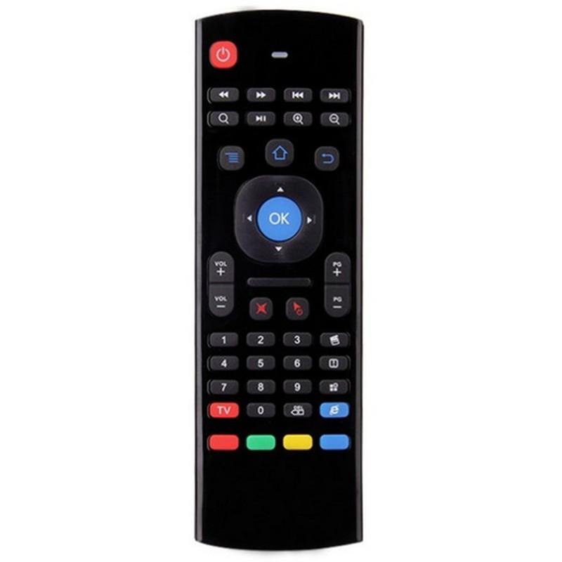 MX3-M Air Mouse - Comando Universal - Air Mouse - Teclado QWERTY - IR - Transmissão de 2,4 GHz