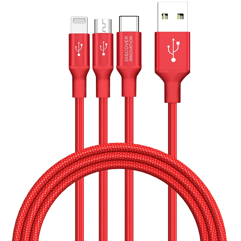 Nillkin Cable Swift 3 en 1 USB C/Micro USB/Lightning