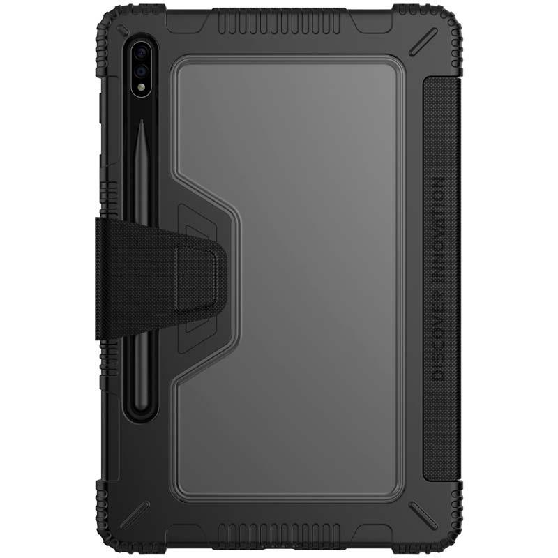 Samsung Galaxy Tab S7 Plus H/ülle PU Ledern Extreme Tri-Fold Book Case Nillkin Schwarz