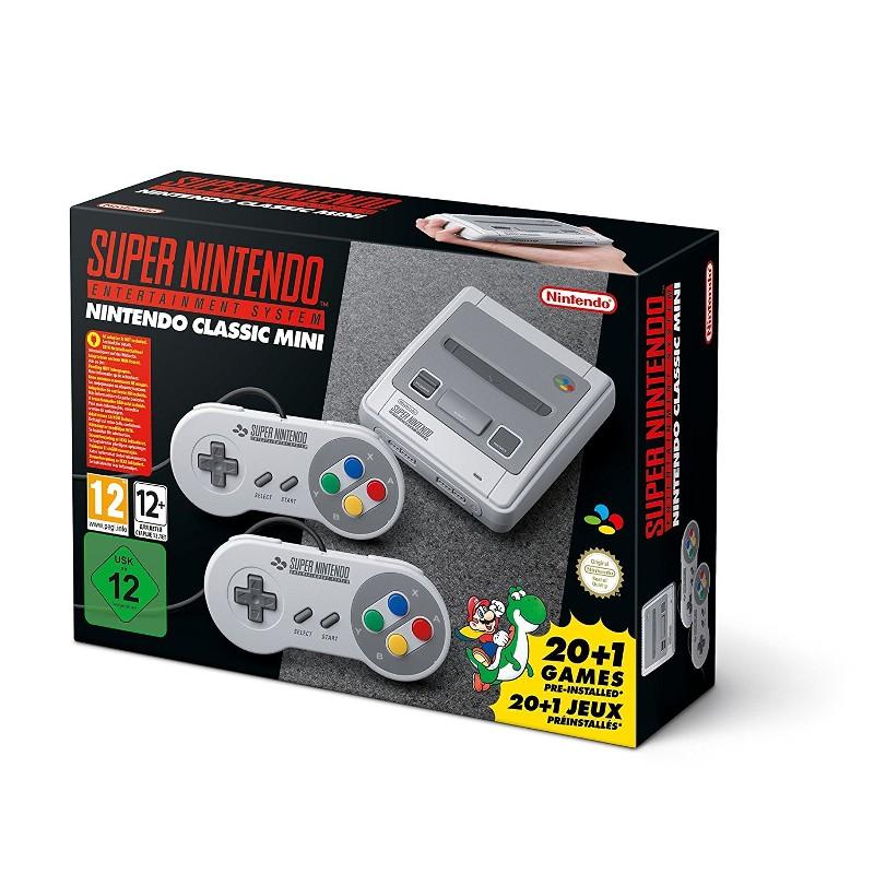 Nintendo Classic Mini SNES + 21 Juegos - Plano general de la consola retro