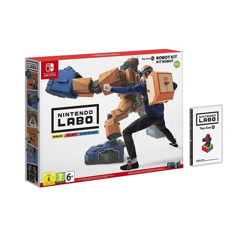 Nintendo Labo Kit Robot Toy-Con 02 - Nintendo Switch - O Kit Inclui o Software de Jogo - Roupa Robot que Responde aos Nossos Movimentos - Nintendo Switch - Nintendo Labo Oficial