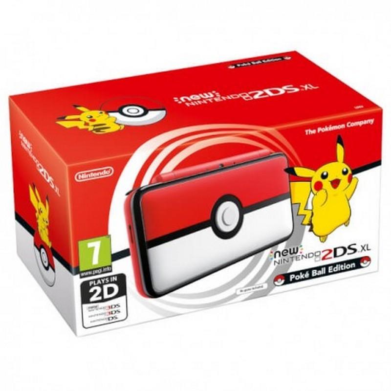 Nintendo New 2DS XL Pokeball Edition - Caja del paquete, consola Nintendo New 2DS XL edición Pokeball