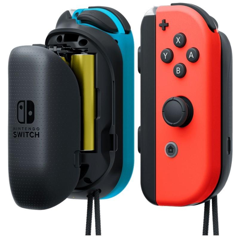 Nintendo Switch Cargador Joy-Con Pilas AA x2 - Color Gris - Funciona con 2 x Pilas AA - Cargador Portátil - Mejor Ergonomía de Agarre - Cargador Joy-Cons Oficial Ninendo Switch - Incluye 2 x Cargadores