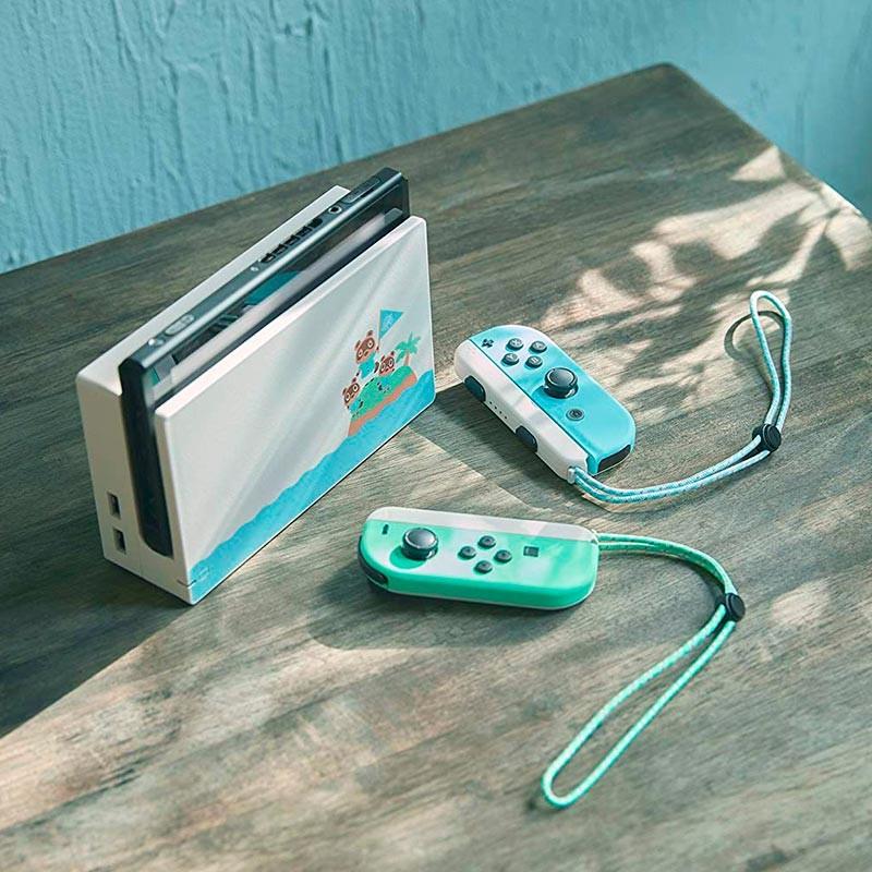 nintendo switch animal crossing edition console
