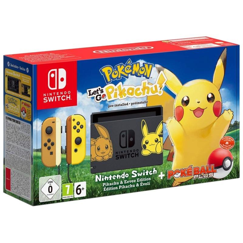 Nintendo Switch Edição Pokémon + Let´s Go Pikachu + Poké Ball Plus