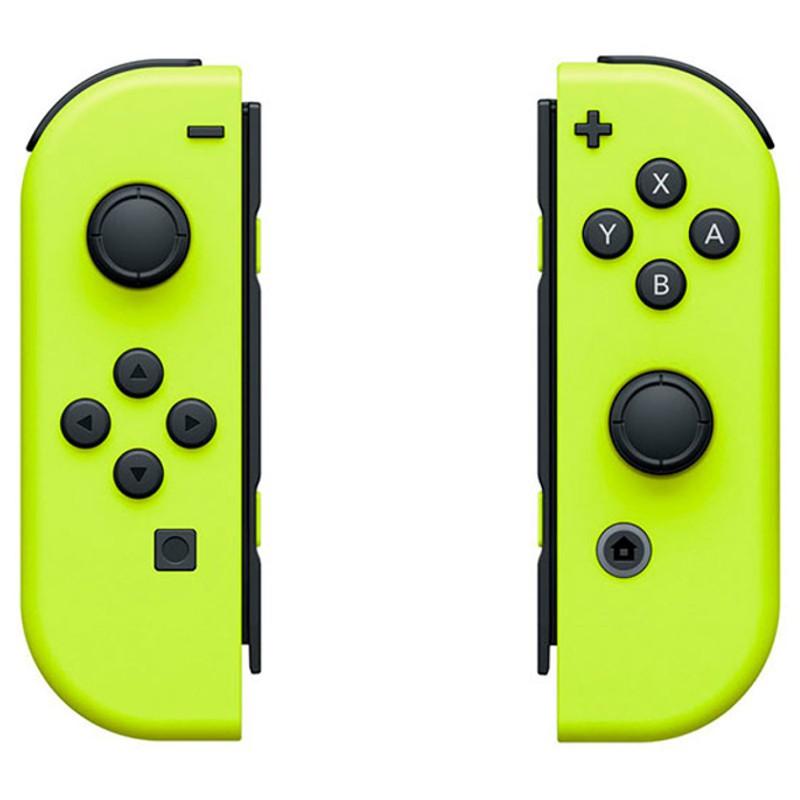 Nintendo Switch Joy-Con Set Esquerdo / Direito Amarelo - HD VIbration - Conversão Sem Fio - Cor Amarela - Acelerómetro - Giroscópio - Leitura NFC Compatível Com Figuras Amiibo - Câmara De Movimento Infravermelho