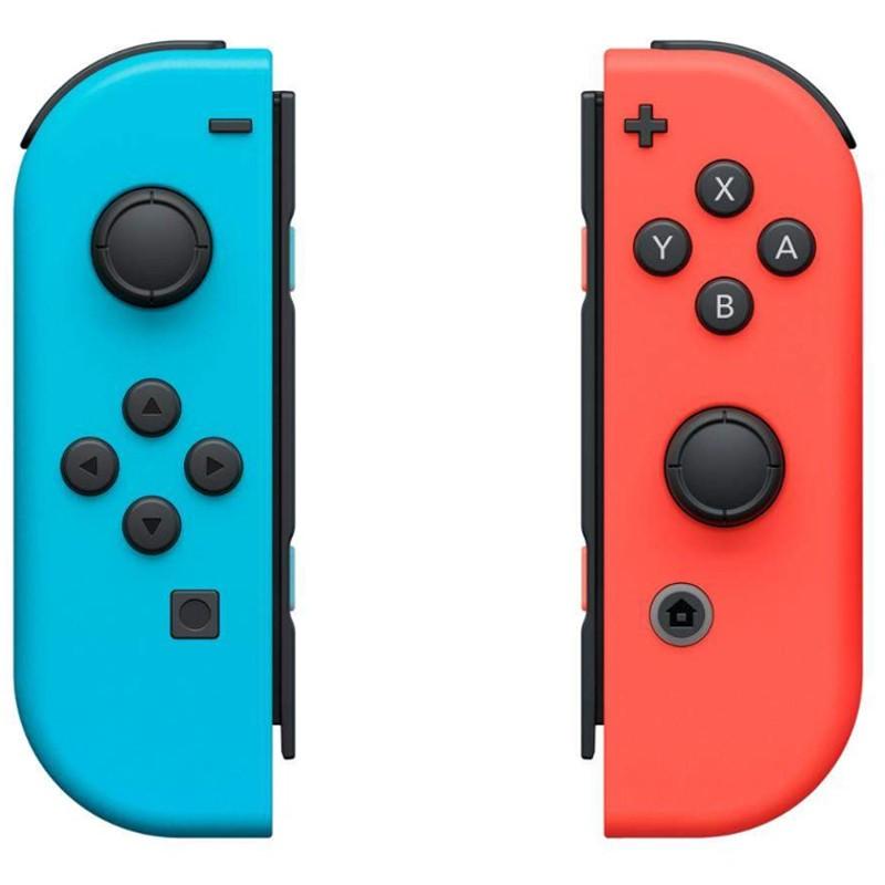 Nintendo Switch Joy-Con Set Izq/Dcha Azul/Rojo - VIbración HD - Conxión Inalámbrica - Color Azul + Rojo - Acelerómero - Giroscopio - Lectura NFC Compatible con Figuras Amiibo -Cámara Infrarroja de Movimiento