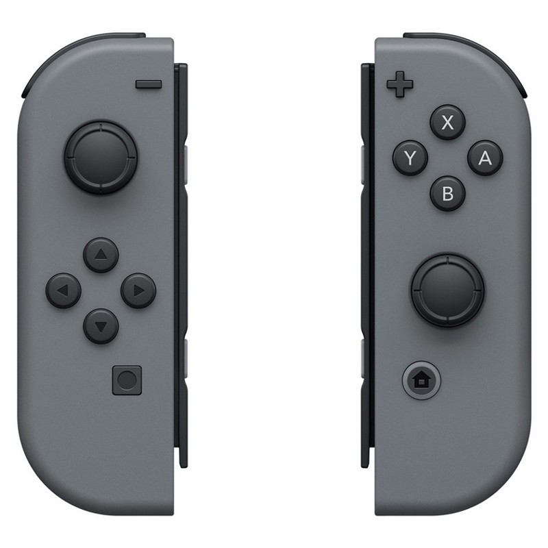 Nintendo Switch Joy-Con Set Izq/Dcha Gris - VIbración HD - Conxión Inalámbrica - Color Gris - Acelerómero - Giroscopio - Lectura NFC Compatible con Figuras Amiibo -Cámara Infrarroja de Movimiento