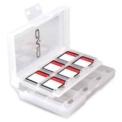 OIVOIV-SW029 Slots Cartões de Jogo Nintendo Switch - Cor Branco - Slot Compacto - Permite até 24 Cartuchos - Interruptor Nintendo