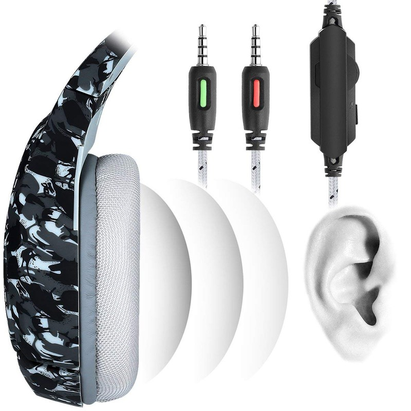 ONIKUMA K1B Gray Camouflage - Gaming Headset