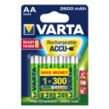 Pack 4x Rechargeable Batteries Varta AA ACCU Power 2600 mAh NiMH