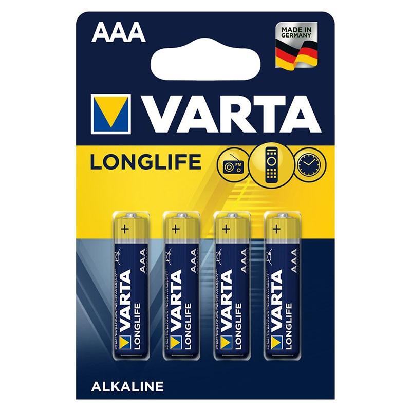 Pack 4x Pilas Varta AAA Long Life Extra Power LR03