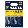 Pack 4x Pilas Varta AAA Long Life Extra Power LR03