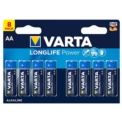 Pack 8x Pilhas Varta AA Long Life Power LR06