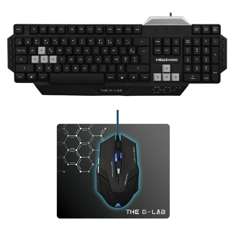 Pack Gaming Teclado + Rato + Mousepad The G-Lab 100/SP