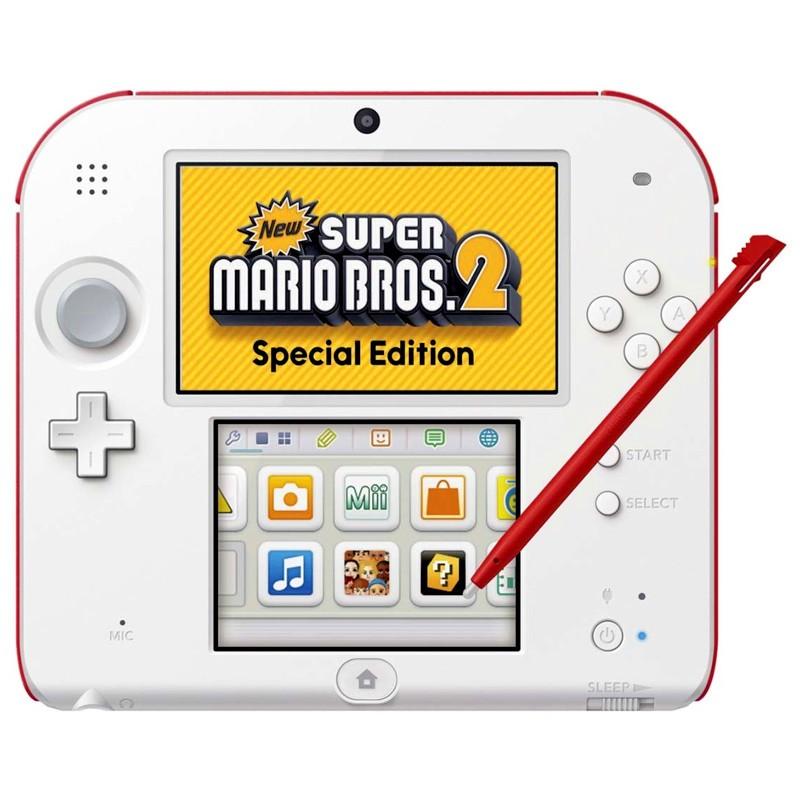 Comprar Pack Nintendo 2ds Blanca Roja New Super Mario Bros 2