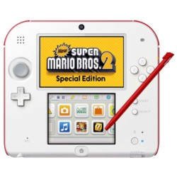 Pack Nintendo 2DS Blanca/Roja + New Super Mario Bros 2 - Ítem1